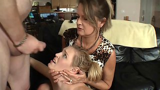 punish smoking daughter - dad daughter mother