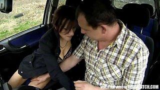 Czech mother I'd like to fuck Hooker Screwed in Car